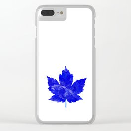 Purple Leave Clear iPhone Case