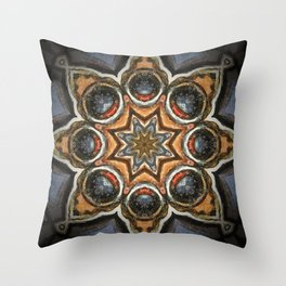 Sapphire and Gold // Visionary Art Star Sacred Geometry Blue Circle Geometric Healing Consciousness Throw Pillow