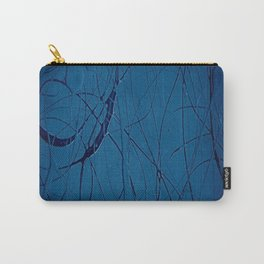 Navy Blue - Jackson Pollock Style Art - Abstract - Expressionism - Modern Carry-All Pouch