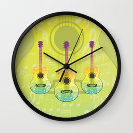 Polygonal guitar silhouette Wall Clock