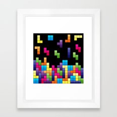Tetris Troubles. Framed Art Print