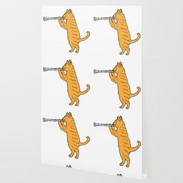 Clarinet Cat Wind Instrument Marching Band Gift Wallpaper