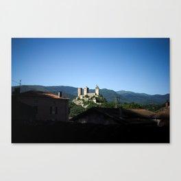 Château sur la colline Canvas Print