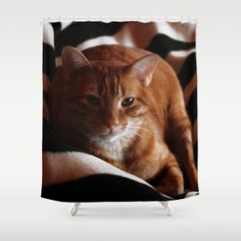 Is it time to get up? Shower Curtain
