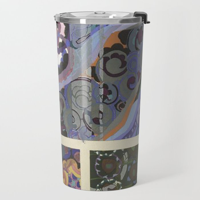 Vintage Art Deco Pattern Travel Mug