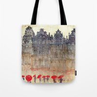 brussels Tote Bags featuring Brussels by takmaj