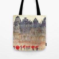 takmaj Tote Bags featuring Brussels by takmaj