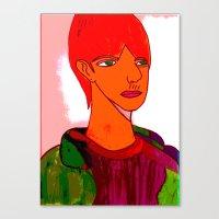 sam smith Canvas Prints featuring Sam by Latidra Washington