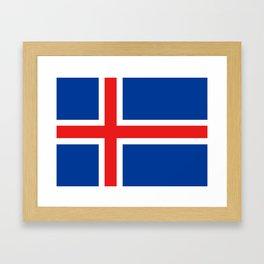 Flag of Iceland Framed Art Print