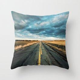 Rough Rural Road Throw Pillow
