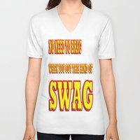 swag V-neck T-shirts featuring SWAG by quality products