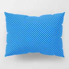 Blue and cyan squares Pillow Sham