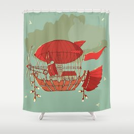 Airship Fantasy Shower Curtain