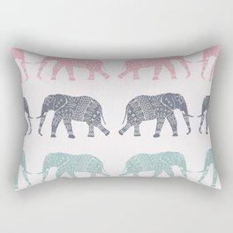Elephant Pattern Rectangular Pillow