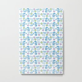 Puppies Rule Pattern Metal Print