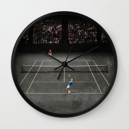 Nadal serving against Isner Wall Clock