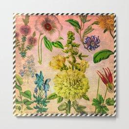 Pretty Garden Flowers Metal Print
