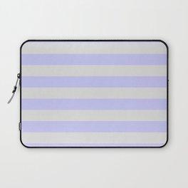 Lavender & Gray Stripes Laptop Sleeve