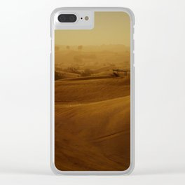The Rub al Khali desert with small Bedouin camp Clear iPhone Case