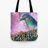 pigeon Tote Bags featuring Pigeon by John Turck