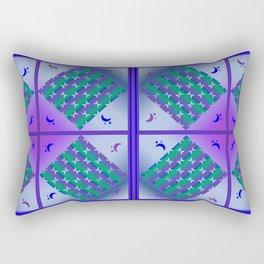 Moonlight Blue, Design pattern Rectangular Pillow