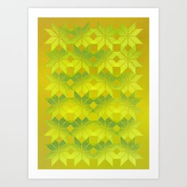 Undergrowth, Snowflakes #33 Art Print