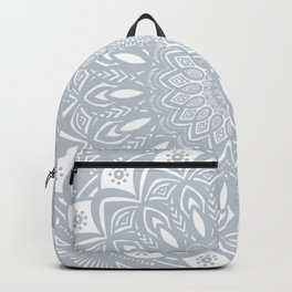 Cool Gray Mandala Simplistic Bold Minimal Minimalistic Backpack