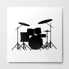 Drum Kit Metal Print