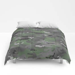 Camouflage: Arctic Green and Grey Comforters