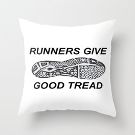 Runners Give Throw Pillow