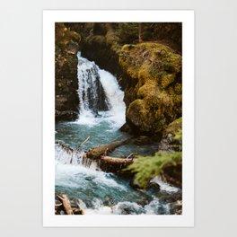 summer virgin creek falls Art Print