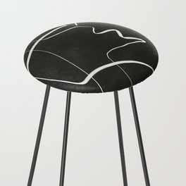 Abstract line art 6/2 Counter Stool
