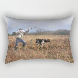 Out for a shot Rectangular Pillow