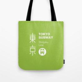 Tokyo Subway - Shinjuku Line Tote Bag