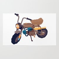 honda Area & Throw Rugs featuring #1 honda z50 by Brownjames Prints