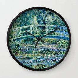 Claude Monet - Water Lilies And Japanese Bridge Wall Clock