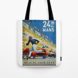 24hs Le Mans, 1959, vintage poster Tote Bag