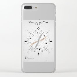 Wheel of the Year Clear iPhone Case
