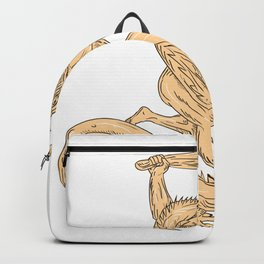 Hercules Fighting Dragon Drawing Color Backpack