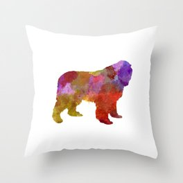 Newfoundland in watercolor Throw Pillow