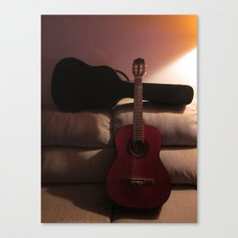My Guitar Will Help Canvas Print