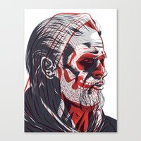 sons of anarchy Canvas Prints featuring Duality - Sons of Anarchy by Steve Treadwell