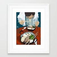 ramen Framed Art Prints featuring Ramen by Noah MacMillan