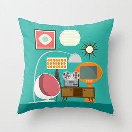 Junkshop Window Throw Pillow