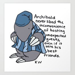 Archibald prefers solitude.  Art Print