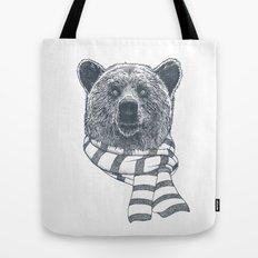 Winter Bear Drawing Tote Bag