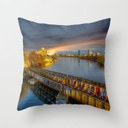 Graffiti bridge Throw Pillow