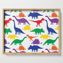 Dinosaurs - White Serving Tray