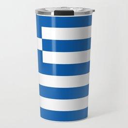 Flag of Greece, High Quality image Travel Mug