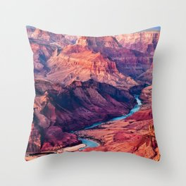 View of the Colorado River and Grand Canyon Throw Pillow